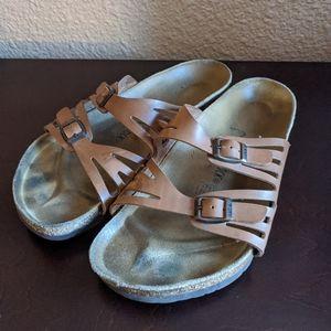 Birkenstock Double Buckle Leather Sandals